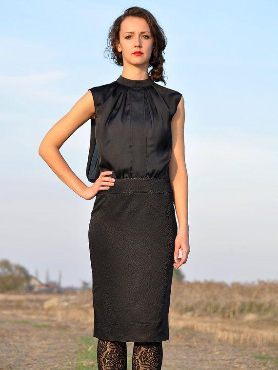 Dress Black Dress Elegant Dress by HannaBoutiqueHB on Etsy