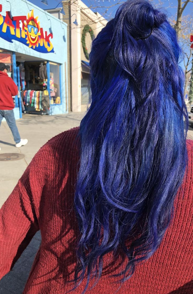 I love this picture of my hair! I used Splat midnight indigo. http://ift.tt/2zUevvU