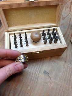 I use this all the time! Bezel setting punches to set stones