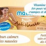 Matilia (Laboratoire France bébé) aide les femmes enceintes à lutter contre les nausées avec des biscuits