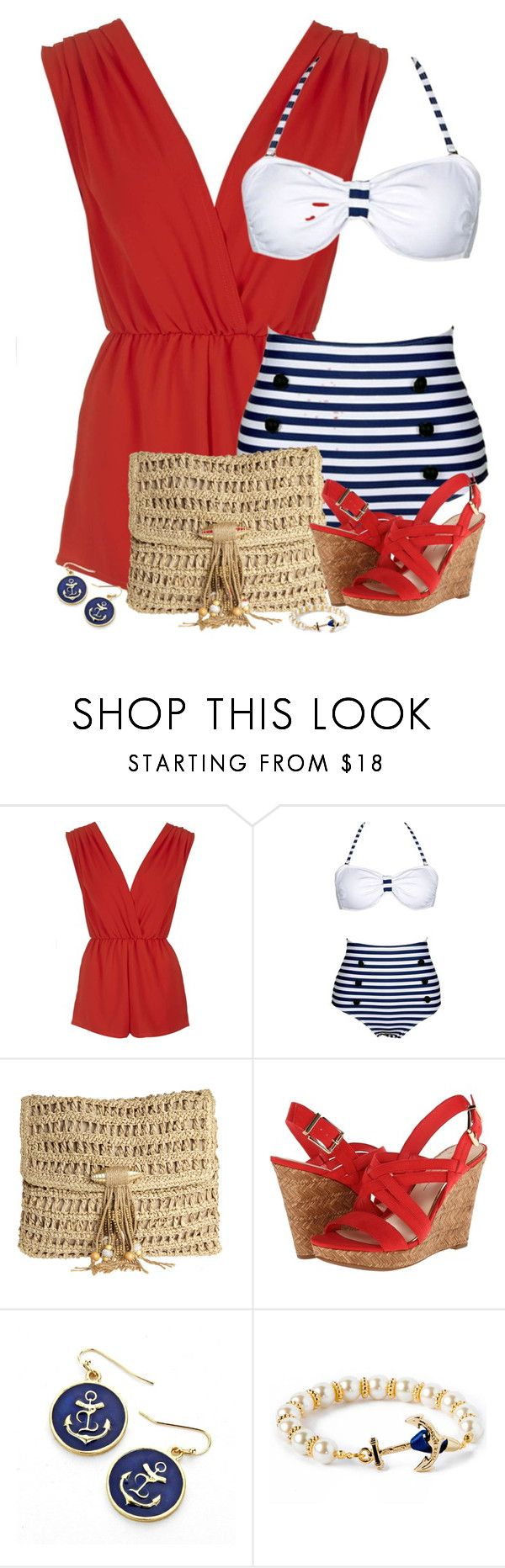 """""""Summer Swimwear"""" by cindycook10 ❤ liked on Polyvore featuring Rare London, Skemo and Jessica Simpson"""