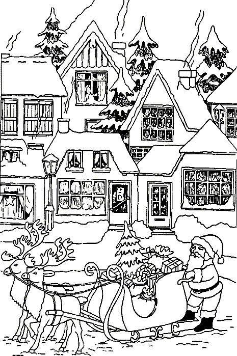kleurplaat Kerstmis - de Kerstman Kids-n-Fun