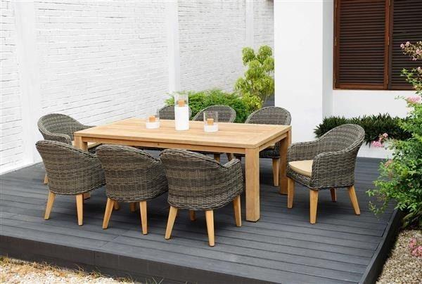 Zestaw mebli ogrodowych z drewna tekowego | garden furniture, garden wood table,  tarrace furniture