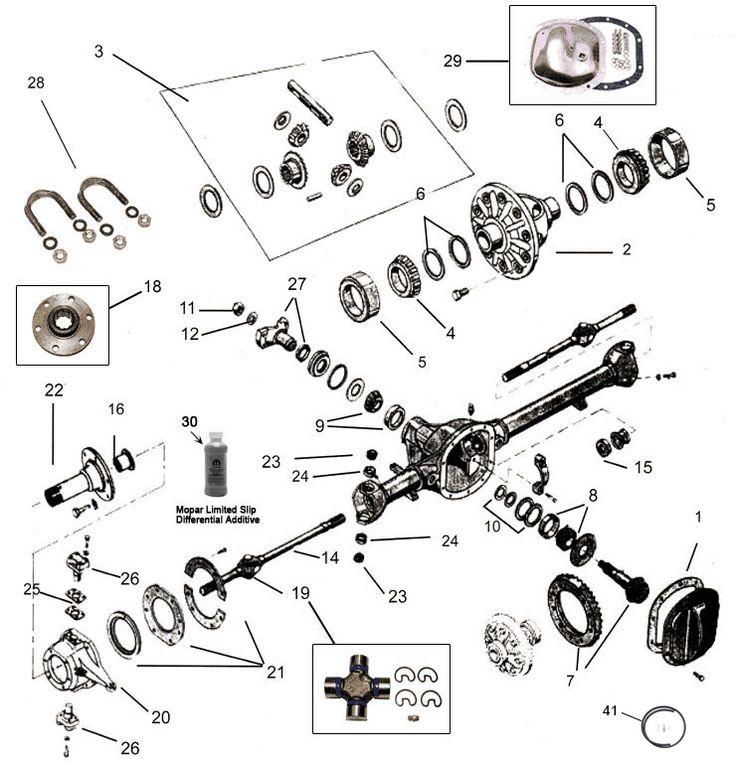 jeep cj willy dana model 25  u0026 27 front axle parts