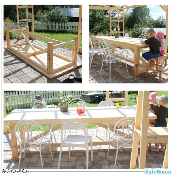 A table for the pergola.
