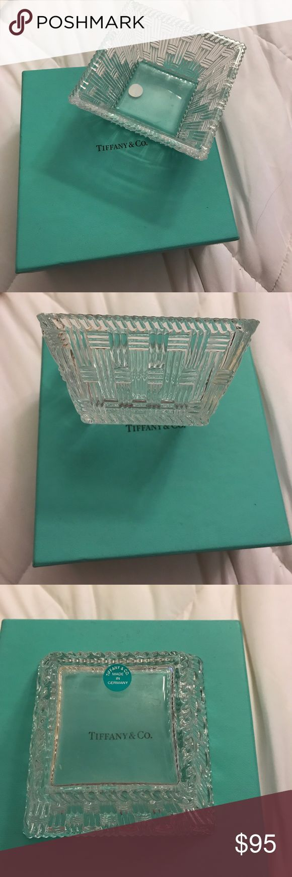 Authentic Tiffany and Company little square bowl I used this for my jewelry.  No trades and will only negotiate price thru offer button. Tiffany & Co. Accessories