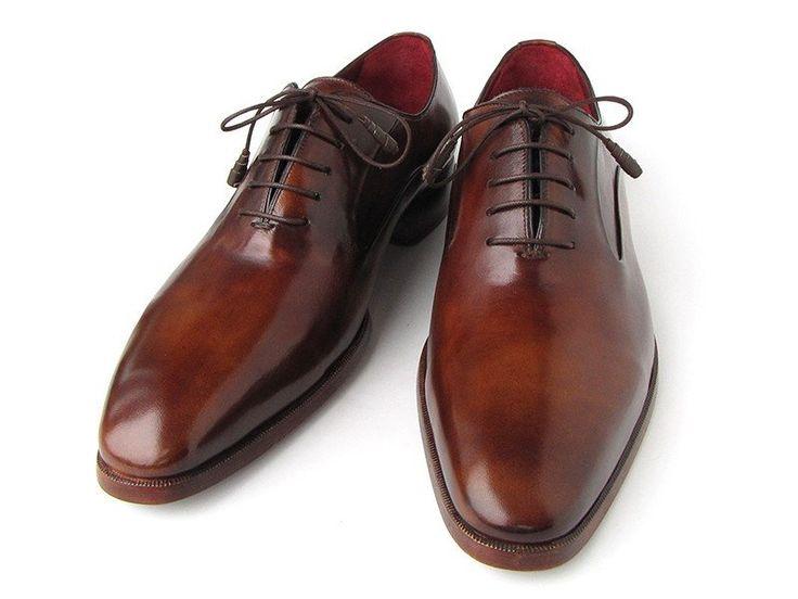 Paul Parkman Men's Plain Toe Brown Calfskin Oxfords