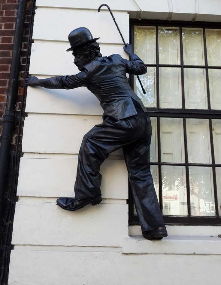 Ant - Lord Nelson & Charlie Chaplin Statue