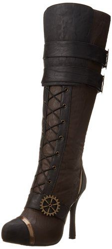 Ellie Shoes Women's 420-Quinley Motorcycle Boot https://www.steampunkartifacts.com/collections/steampunk-glasses