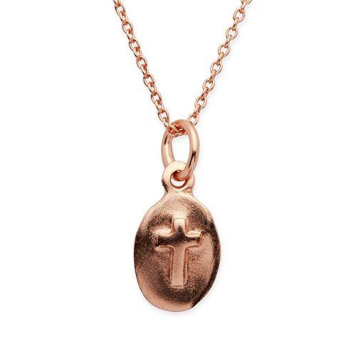 Unique 925 Silberkette rose vergoldet Kreuzanhänger. #rose #gold #silver #cross #necklace