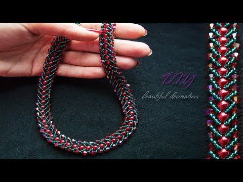 How To Make Designer Necklace At Home || Party Wear ||Diy || Beaded Necklace || Jewellery Making - YouTube