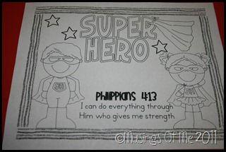 Jesus Superhero Coloring sheet