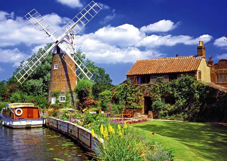 país de moinho de vento Vetor