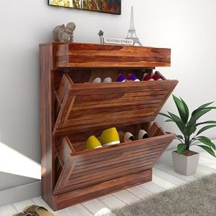 natural shoe rack color