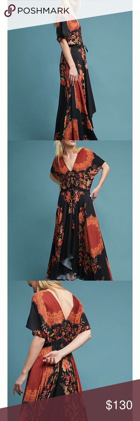 Anthropology dress Flowery new with tag Anthropologie Dresses Maxi