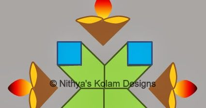 Step By Pictures For Drawing Easy Apartment Deepam Kolam