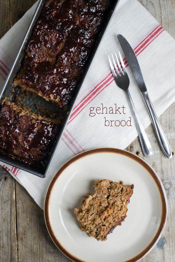 Recept voor een mega lekker gehaktbrood met een topping van barbecuesaus.