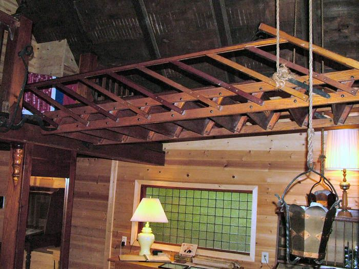 garage loft ladder ideas - retractable stairs Home Renovations