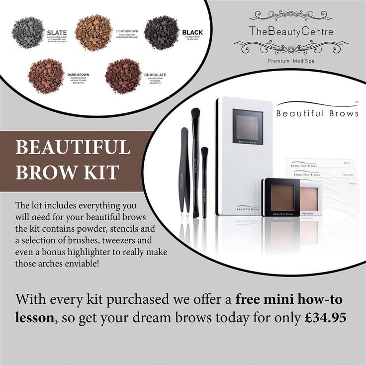 Each kit comes complete with everything you need to create stunning brows at home. #free mini #lesson in how to use your new #products and get the #brows you have always wanted #Browgame #Brows #Makeup #Product #Perfectbrows #Eyebrows #Browsonfleek #Beautifulbrows #Thebeautycentrebraintree #Salon #Essex #treatyourself