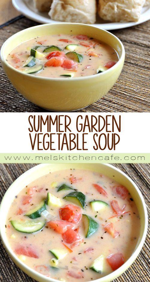 summer garden vegetable soup recipe gardens garden