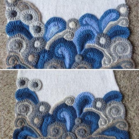 Freeform crochet solid