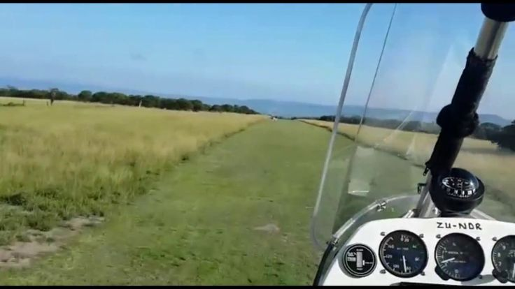 Flying Africa in a Microlight over Game Farms