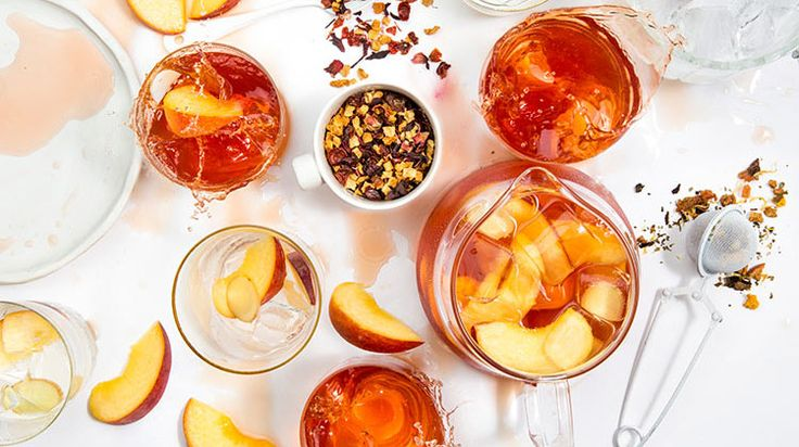 Peach iced tea punch  You'll need  8 teaspoons Packs a Peach 4 teaspoons Citrus Punch Ice Peach and ginger slices T2 2L Jug-a-lot How to  Add teas to your T2 Jug-a-lot and fill ¾ with boiling water. Infuse for 30 minutes, then remove infuser and leave to cool for 1 hour. Add ice, peach and ginger slices to garnish your peach iced tea punch. Makes 2 litres
