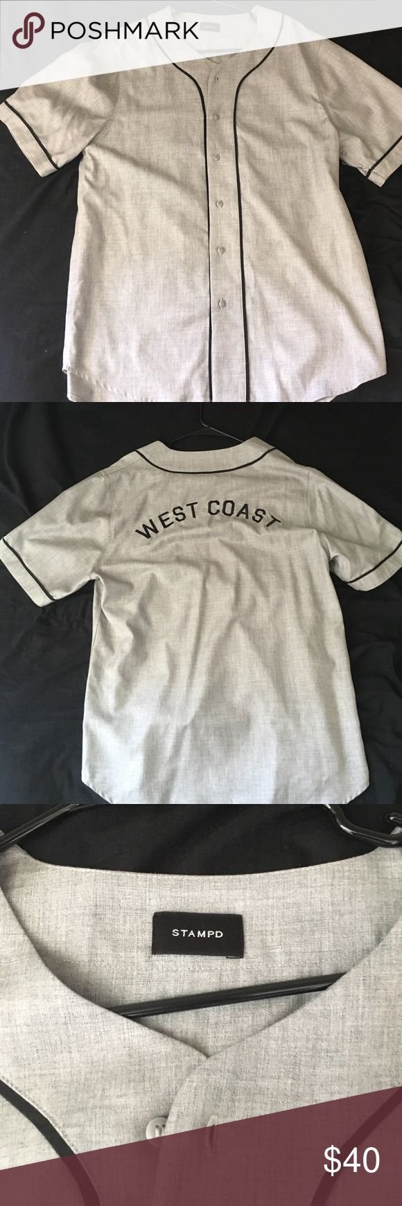 STAMPD LA Baseball Jersey Brand New without tags STAMPD LA West Coast baseball jersey. Stampd Shirts Casual Button Down Shirts