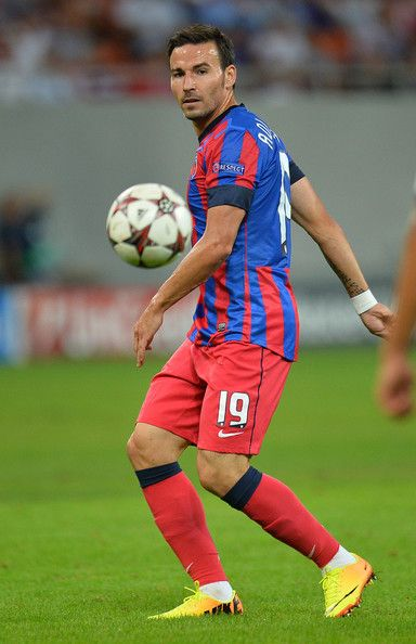 Adrian Cristea Adrian Cristea of FC Steaua Bucuresti in action during the UEFA Champions League play-off first leg match between FC Steaua Bucuresti and Legia Warszawa held on August 21, 2013 at the National Arena Stadium in Bucharest, Romania.