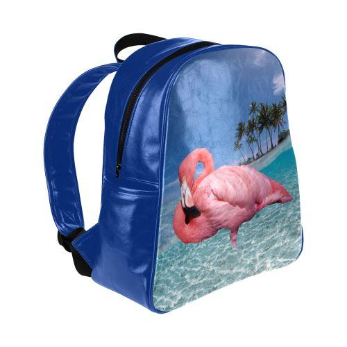 Flamingo and Palms Multi-Pockets Backpack #FREEShipping #artsadd #lbackpacks #flamingos