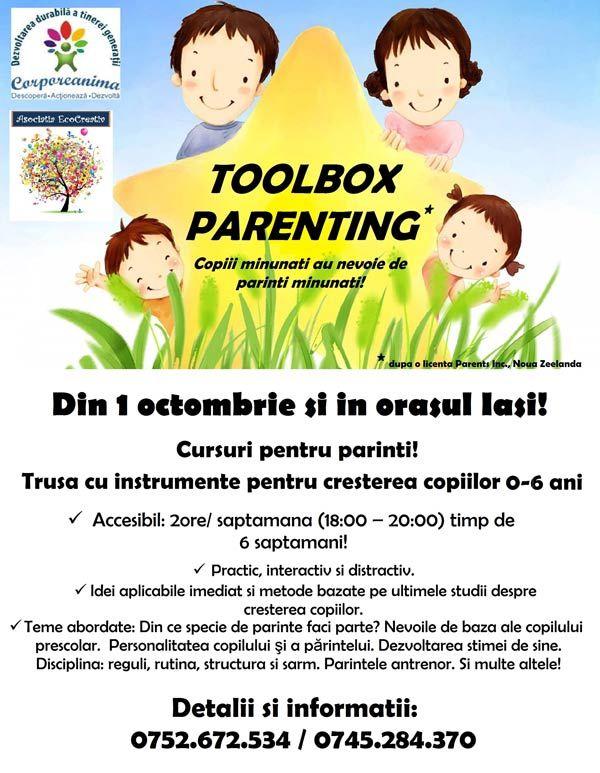 Cursuri pentru creșterea copiilor de 0-6 ani – ToolBox Parenting | IasiFun - site-ul tau de timp liber!