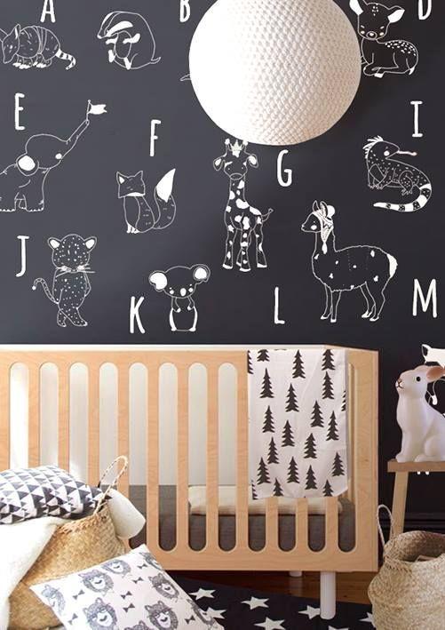 Het beestenalfabeth op het behang - Little hands  Need Bedroom Decorating Ideas? Go to Centophobe.com