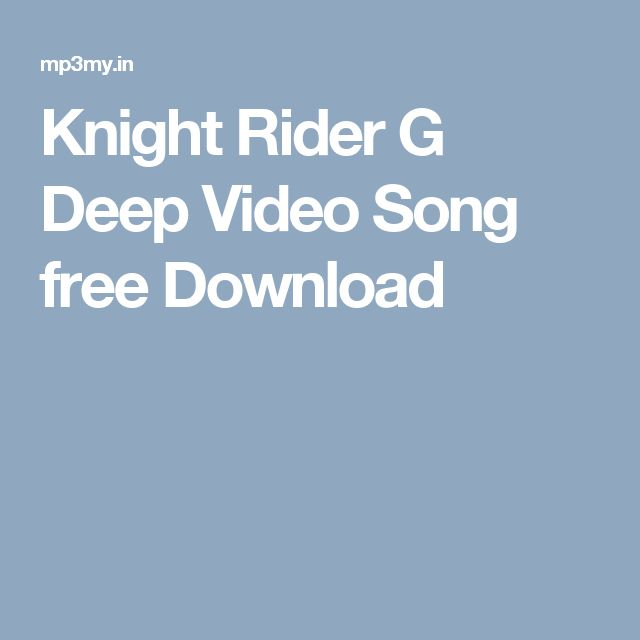 Knight Rider G Deep Video Song free Download