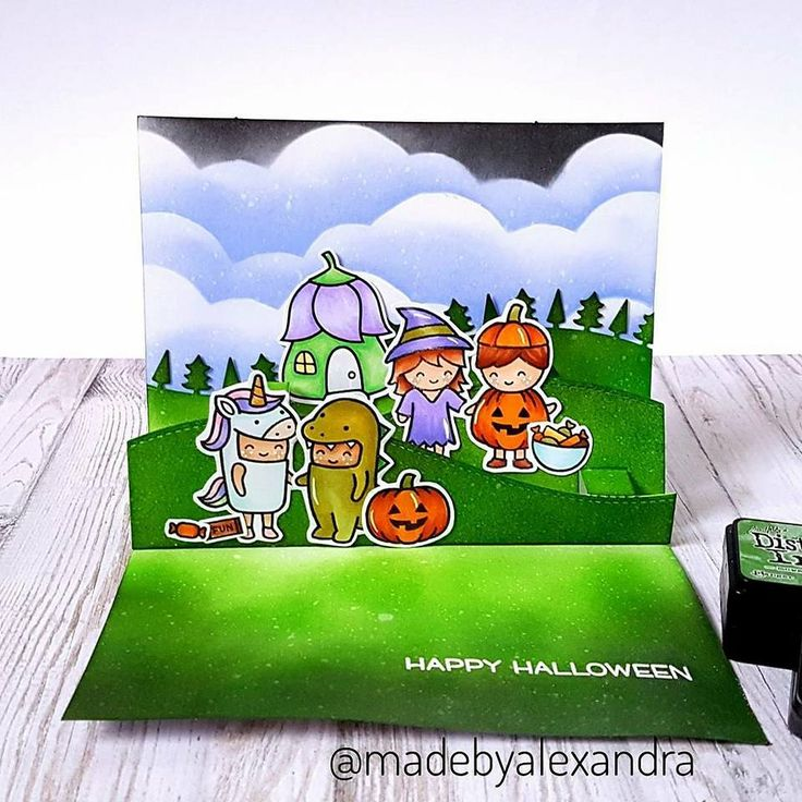 Lawn Fawn - Costume Party ( Halloween card )
