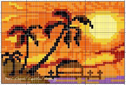 point de croix sunset - Pesquisa Google