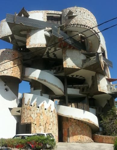 """""""The Spiral House"""", a geometry styled apartments house, Ramat Gan, Israel (1981–1989) by architects Zvi Hecker & Ram Karmi, who won the Rechter Prize (an Israeli architecture prize award) for this design."""
