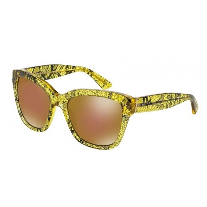 The bright and sunny Dolce & Gabbana DG4226 2974F9 in Lace print is the perfect colorful accessory for this summer!
