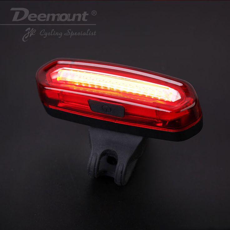Deemount cob arka bisiklet işık arka lambası emniyet uyarı usb şarj edilebilir bisiklet ışık kuyruk lambası comet led bisiklet bycicle ışık