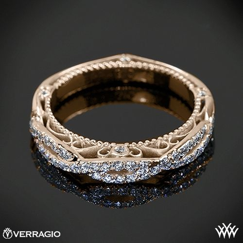 18k Rose Gold Verragio Twisted Diamond Ring