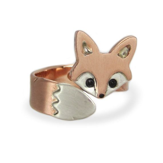 Wrap Around Baby Fox Ring by WeldedHeart on Etsy, $70.00