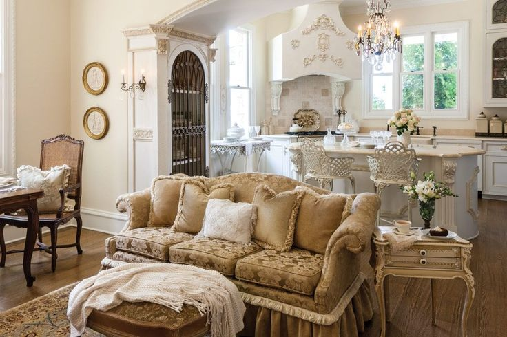 Shades from pristine white to creamy ecru blend harmoniously to cultivate a sense of romance in these alabaster filled Beaux-Arts-style interiors.