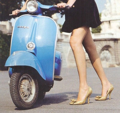vespa love. Ride a Vespa through a Tuscan village. No desire to drive anything in Rome.
