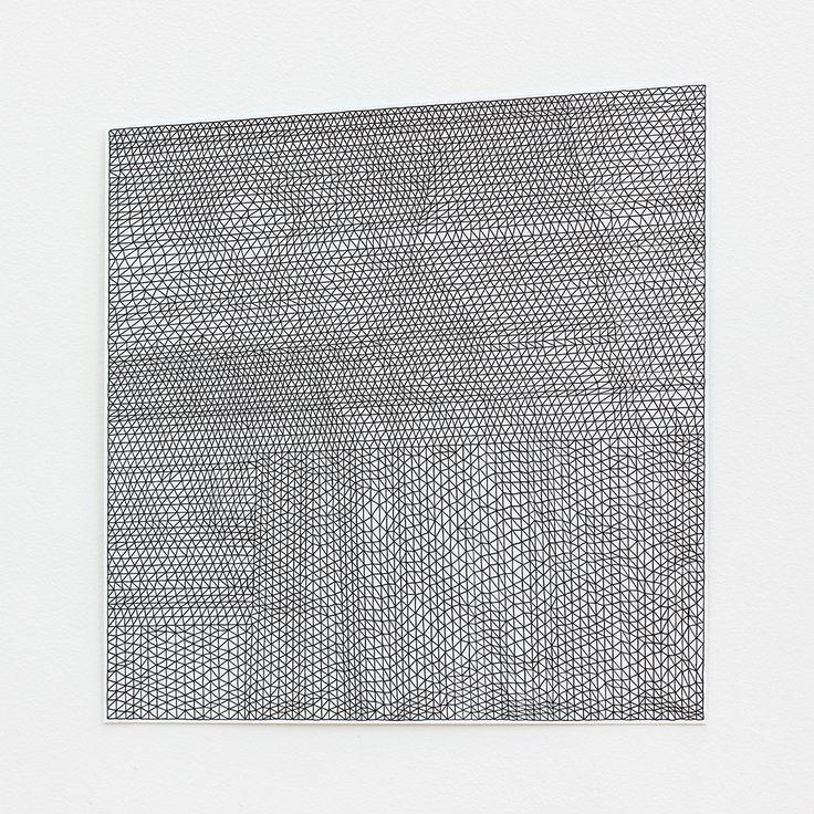 Giulia Ricci - PARALLEL / BEND No. 10 - 2014 - ink pen on paper, 31.5 x 29.5 cm