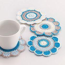 Crochet Spring Flower Coaster Pattern