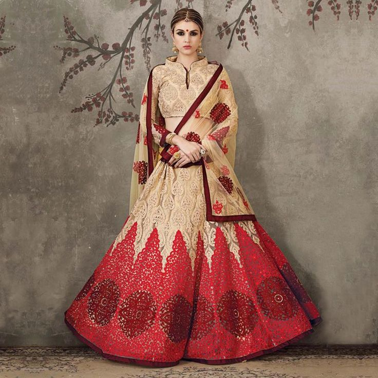 Buy Chikoo Color Wedding Wear Lehenga Online Women Ethnic Wear at Peachmode.com