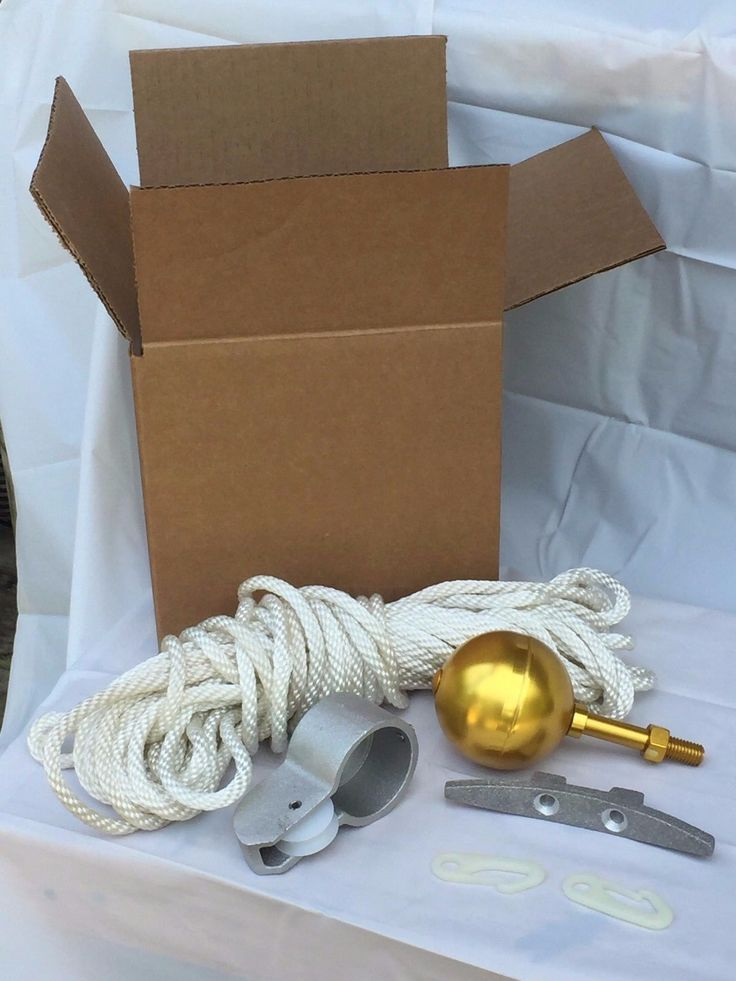 Flag Poles and Parts 43536: Flagpole Repair Rope Parts Kit For Up To 20 Flag Poles W Gold Ball, Pulley -> BUY IT NOW ONLY: $59 on eBay!