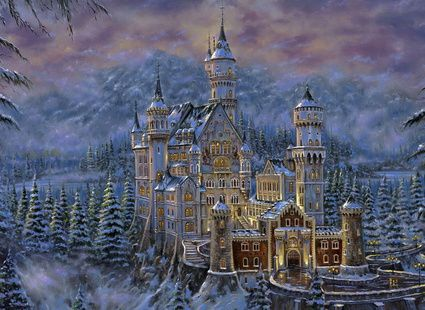 Обои - Искусство - зимний замок
