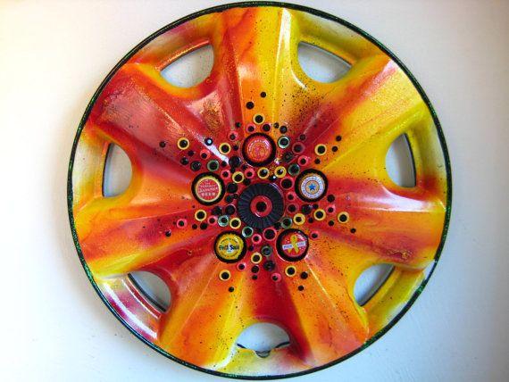 17 Best Images About Upcycle Hubcaps On Pinterest Yard