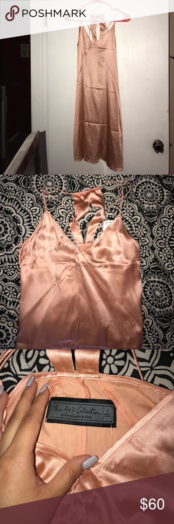 Abercrombie and Fitch silk dress Brand new never worn Abercrombie and Fitch dress super cute if you want to wear this out to a club! Abercrombie & Fitch Dresses Mini