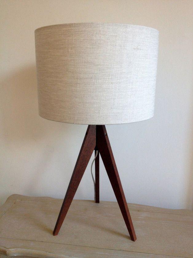 Stehlampen - Blumen Lampe Tischlampe Holzfuß - ein Designerstück von Lillyberlin bei DaWanda